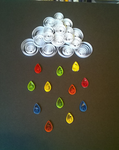 Quilling Cloud with Rainbow Drops by Jenni1361