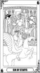 KH Tarot: Six of Staffs (lineart) by way2thedawn