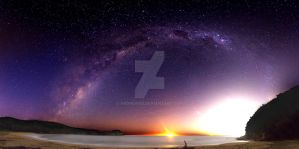 Maitland Bay Milky Way by andrewbg
