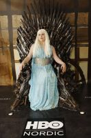 Daenerys Targaryen on the Iron throne by Tiddeli
