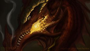 Smaug Fanart Print preview by riazkhan