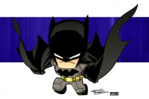 Little Big Head Batman by KidNotorious by VPizarro626