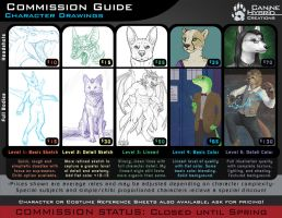 Commission Guide- Character Drawings by CanineHybrid