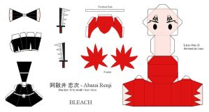 BLEACH Papercraft - Abarai Renji by Larry-San