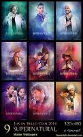 SPN - JIBCon 2014 (Mobile Wallpapers) by lilyanjudyth