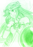 Palutena alights! by Deserted-Rose-Petal