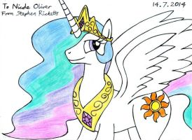 Princess Celestia in Colour by Sricketts14381