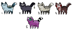 Kitty Adopts (CLOSED) by Neon-Spots-Adopts