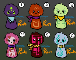 Adoptable Scarfblobs -CLOSED- by Spiral-Teardrop