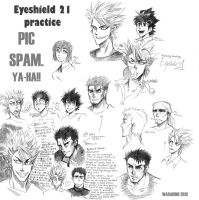 Eyeshield twenty one sketches by saiyagojyo