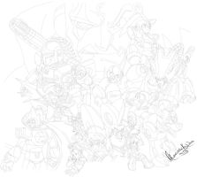MegaMan Classic and MegaMan X by ckymonarch
