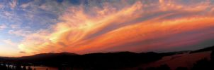 Panoramic Sunset by SquirrelGirl111