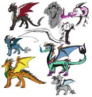 Concept Dragons 02 by Eternity9