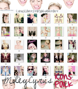 Miley Cyrus Icons Pack by cyruscantst0p