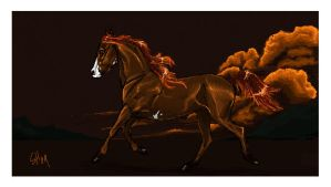 Iscribble horse by blackseagull