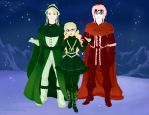 The Malfoy Family Portrait(Winter Version) by gxfan537