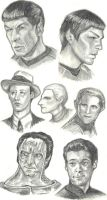 Favorite Character Sketches by tin-plated-dictator