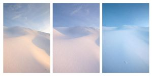 Snow Dunes triptych by PauloALopes