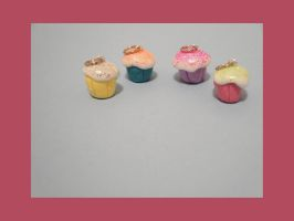 Mini Cupcake Charms by MerryBrandy25