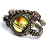 Steampunk Ring K by CatherinetteRings