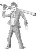 NMH : Travis Touchdown by slamduncan2115