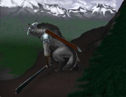 werewolf warrior by wolfeblackraven