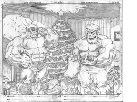 Hulk Christmas pencils by EdMcGuinness