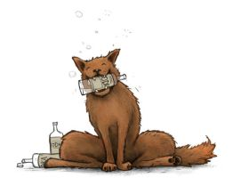 Drunk Wolf by Plognark