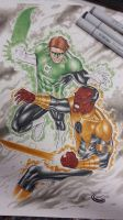 greenlantern vs sinestro commission by Sajad126