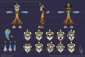 Padhim Model Sheet by ibrahx