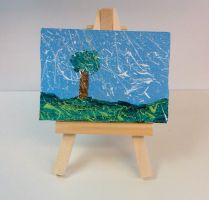 Mini Canvas - Splattered Landscape by madizzlee
