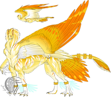 Winged Centauric Sphynx - Colored! by Aevix