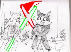 Darth Foxx fighting Jedi by Luke-the-F0x