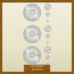 CD DVD Icons by mikevickrocks