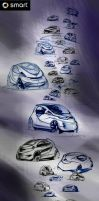 Smart Car Ideation Sketches by daviddaylee