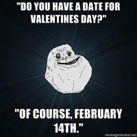 Forever Alone Valentines day by anj100