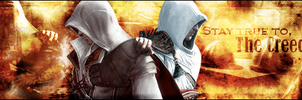 Signature: Ezio and Altiar by MsterDeth