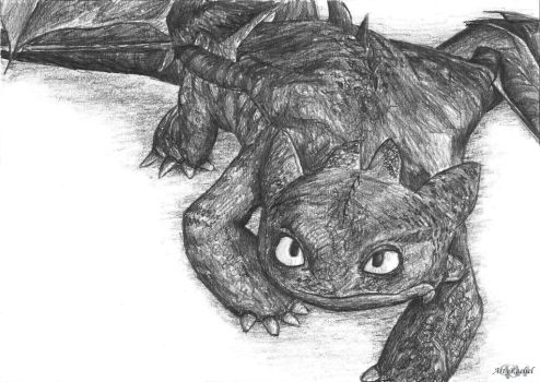 Toothless by RacsterArt