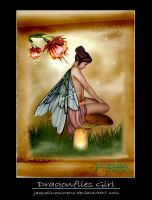 Dragonflies Girl by JaquelineMoreno