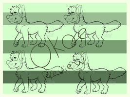 Pay-To-Use Canine Lineart 50 points by Okoe