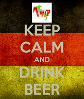 KEEP CALM AND DRINK BEER by xXMiser-AkiraXx