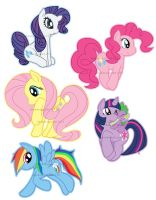 My Little Pony Charm Designs (Set 1) by darkmagician1212