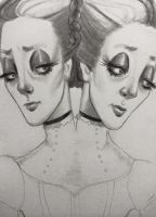 Conjoined Twins Drawing by asunder