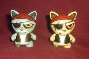 Gray and Beige Pirate Cats by ReverendBonobo