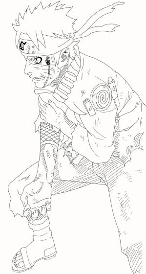 Naruto Line Art by Rin171