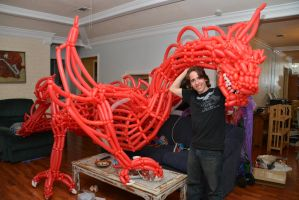 Smaug the Magnificent Balloon Sculpture by DJdrummer