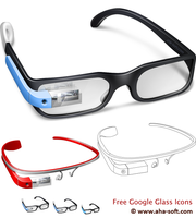 Free Google Glass Icon Set by aha-soft-icons