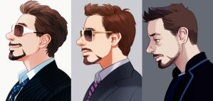 Iron man 1,2,3 by Hallpen