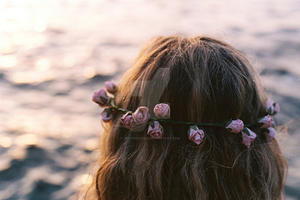 Flowers in sister's hair by sexypaige100