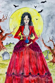 The witch from the cemetery by abermals-art